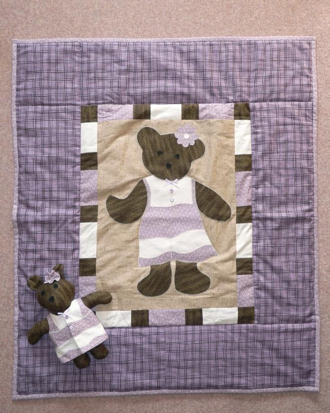 Quilt & teddy bear made for Amelia Sept 2011 02
